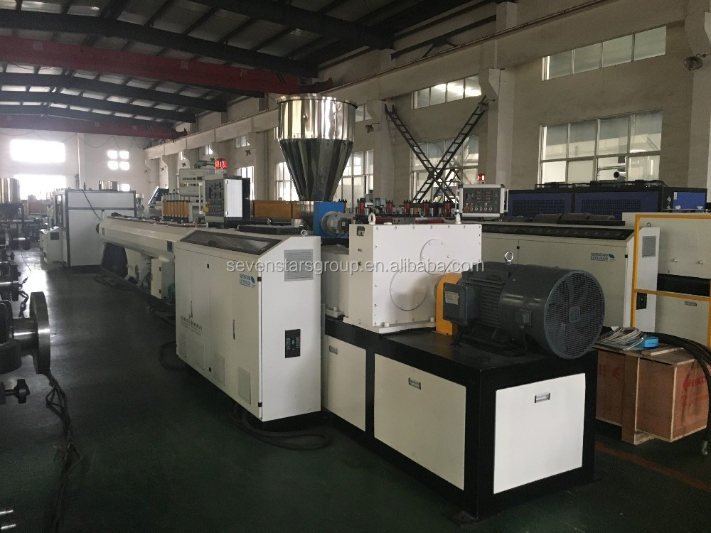 plastic pvc pipe extruder pipe making line plastic pipe machine