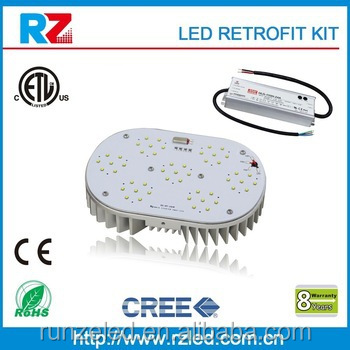 ETL/cETL/CE/RoHS led recessed light kit High quality UL listed led retrofit kit 120w ,DLC shoebox retrofit kits to replace 400w