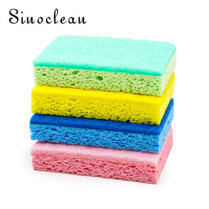 kitchen cleaning sponges cellulose cellulose sponges Scrub sponge with Scouring pad