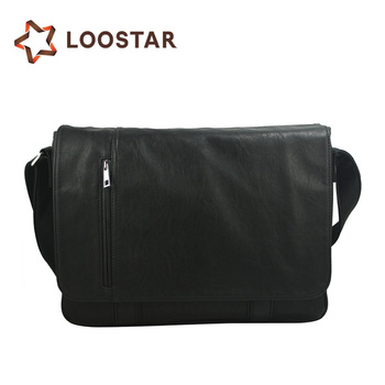Factory Price Male Cross Side Bag Handmade Leather Shoulder Bags for Men  Black Color f3d836d93ae