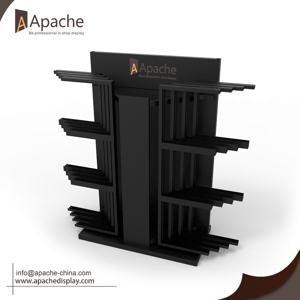 High Load Metal Tile Display Rack with Hinges for Showroom