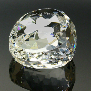 Gem cut Crystal Paperweight Gifts For Wholesale by decor.