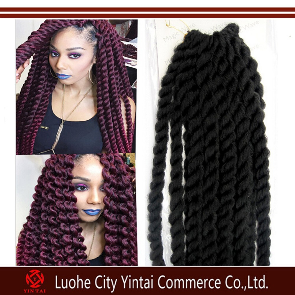 Black Brown 12inch 3x Box Braid Pre Twisted Crochet Braids For ...