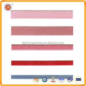 Chinese manufacturing Velvet Ribbon Tape with custom logo printing