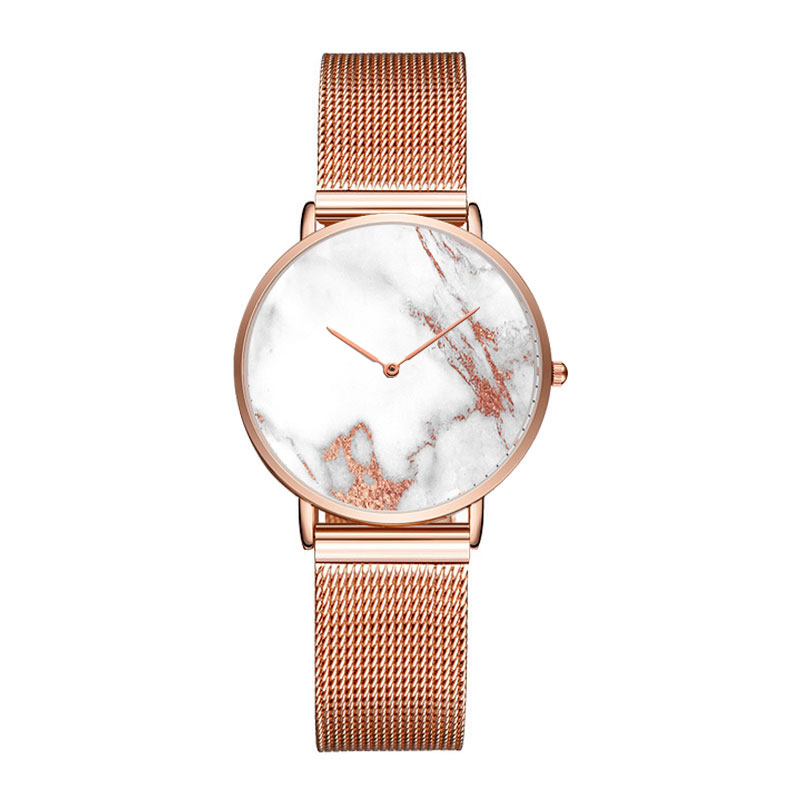Brand Your Own Custom Watches Personalized Luxury Women Stainless Steel Watch Private Label Rose Gold Logo Watch