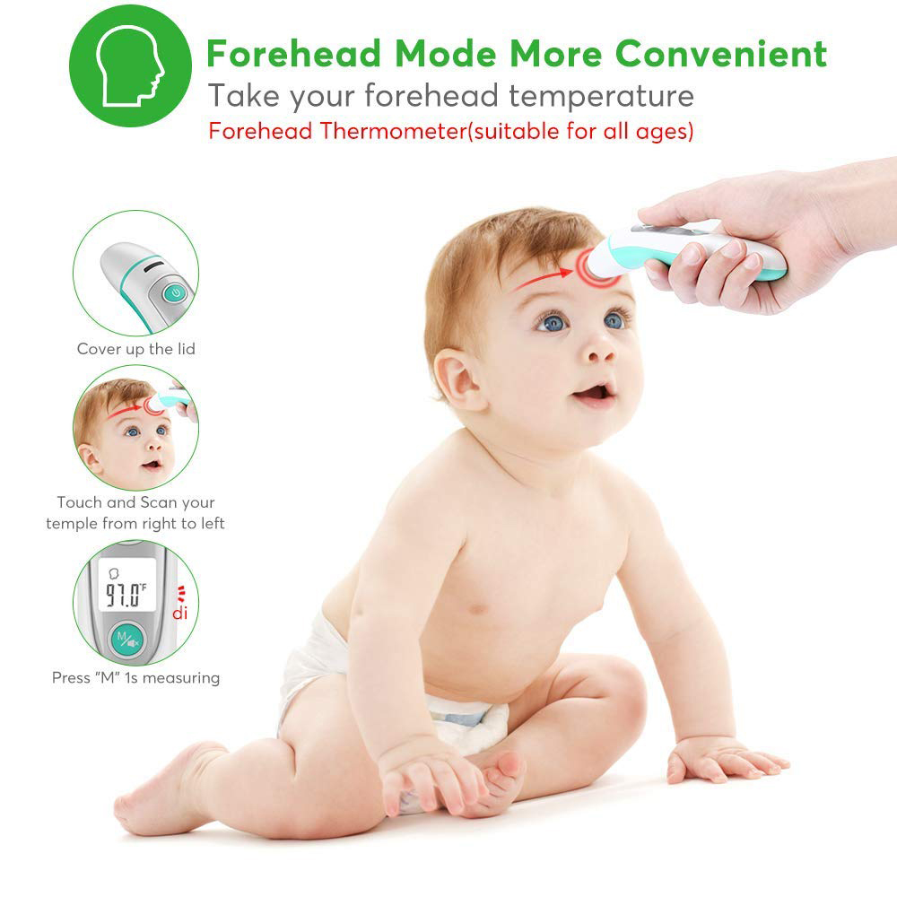 FDA approved Medical Digital baby Infrared Thermometer forehead and ear thermometer Big promotion in September