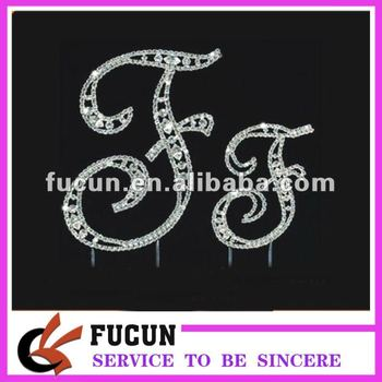 chinese wholesale birthday cake topper letters f