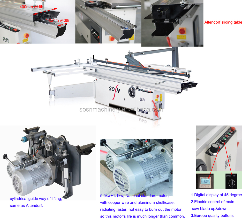 Mj6132tay Sliding Table Panel Saw Machine Woodworking ...