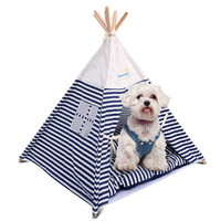 2019 Amazon Hot Sell New Design Wholesale Durable Conical Five Sticks Waterproof Foldable Pet Teepee Dog Tent