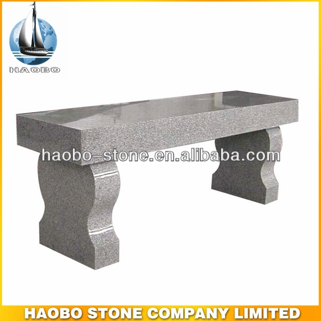 Cheap Staight Seat Harp Legs Granite Cemetery Bench
