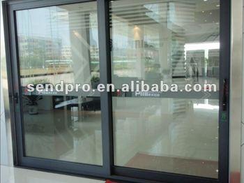 Aluminum Thermal Break Sliding Tinted Glass Door