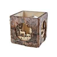 Christmas candle holder wooden candle holder christmas decoration