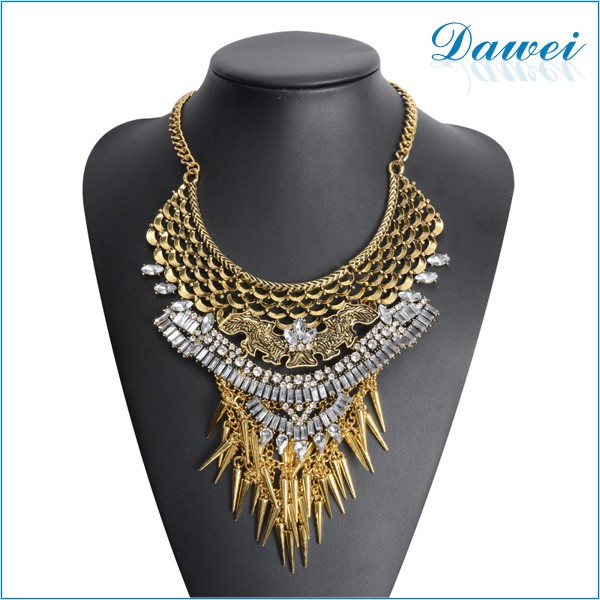 Factory Directly Wholesale Order American Style Fashion Necklace 2016 Latest Design Statement Necklace Fashion Jewelry