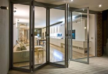 Exterior Soundproof Aluminium Tempered Gl Folding Patio Doors Price