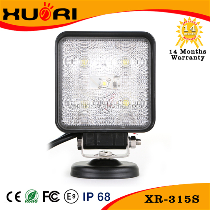 Square China manufacturer mini car lamp15W led front head bumper light for 4x4 off road car lights led