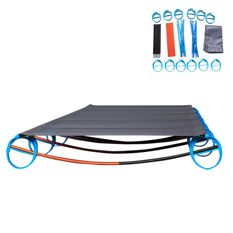 Strong Stable Foldable Camping Cots for Adults with Side Storage Bag, Outdoor Sleeping Bed with Free Carry