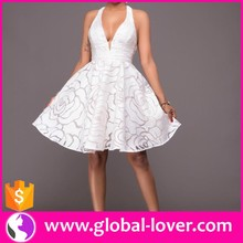 Girls White Prom Dress Lady White Lace Dress Women Elegant White Dress