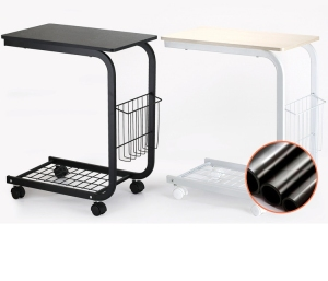 net bottom movable bedside/sofaside laptop desks with storage basket
