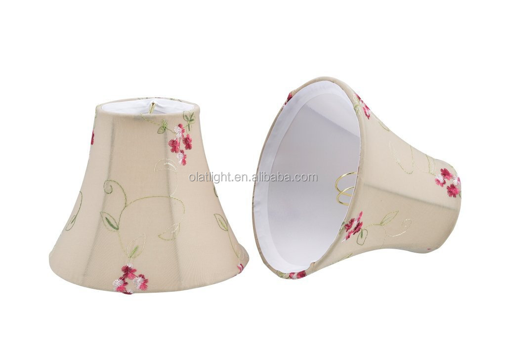 Apricot Small Bell Shape Fluorescent Light Cover Clips Lamp