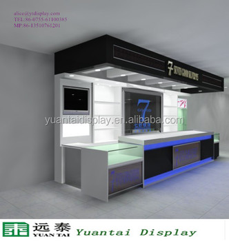 Wall Recessed Jewelry Showcase Kiosk Mobile Shop Counter Design