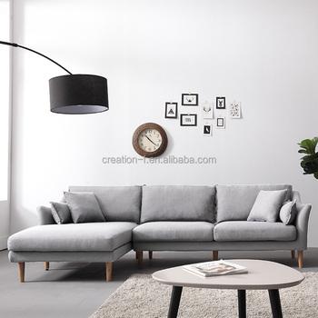 L Shape Living Room Modern Optional Color Corner Fabric Sofa Furniture Product
