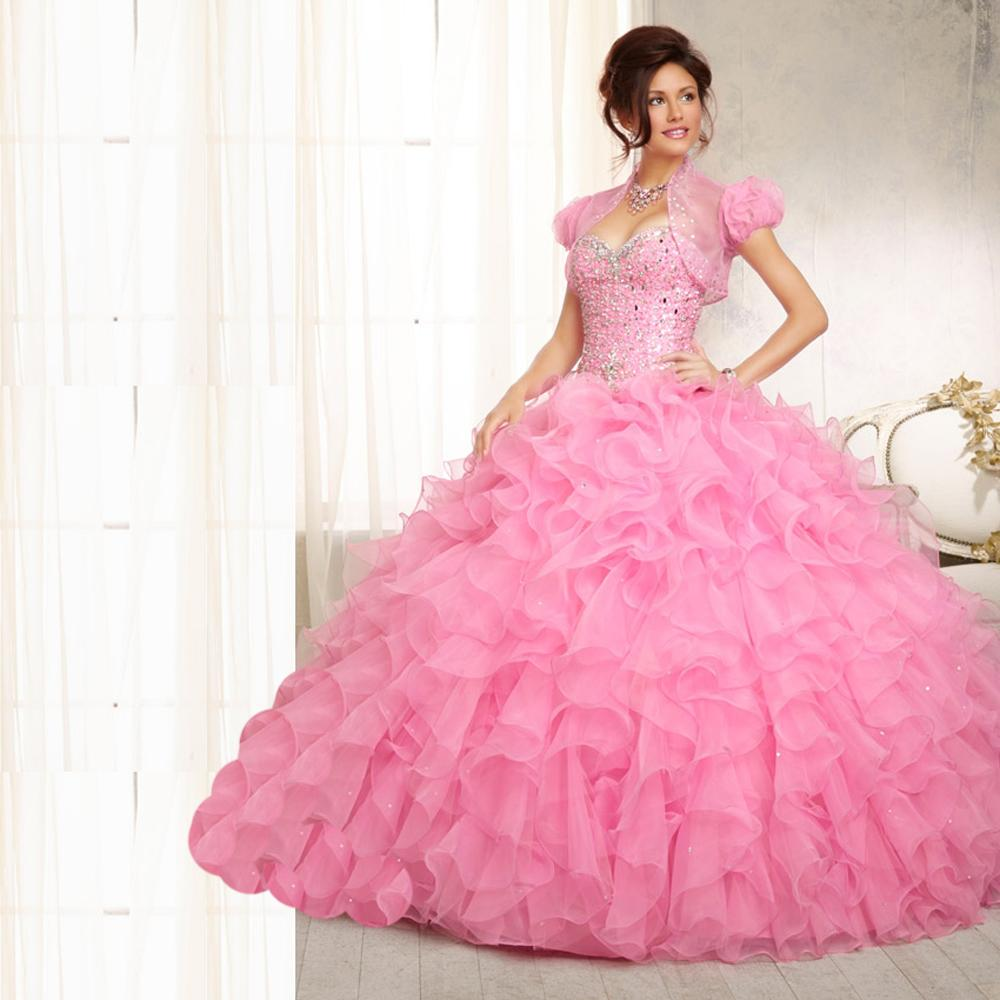 Buy Hot Sale Pink Blue Quinceanera Dresses 2015 Ball Gown With ...