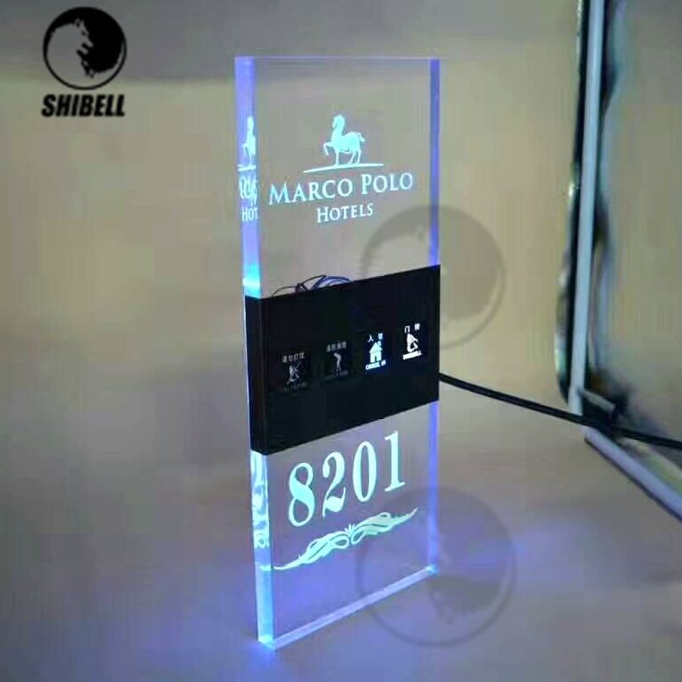 SHIBELL Newest acrylic Hotel Rooms Do Not Disturb Doorbell Sign