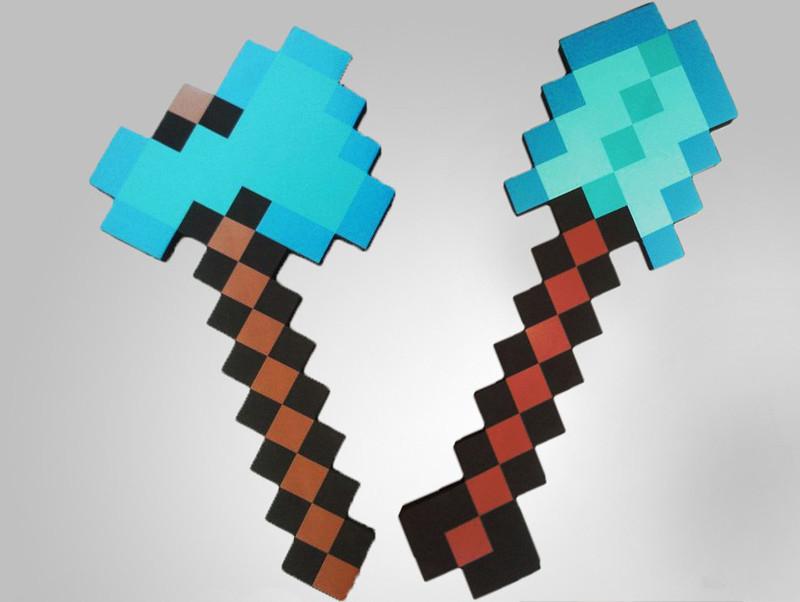 Minecraft sword vs axe - minecraft sword and axe | eBay