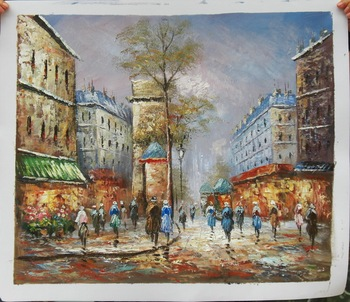 Hotel decorative wall art paris street art canvas oil for Best place to buy canvas prints
