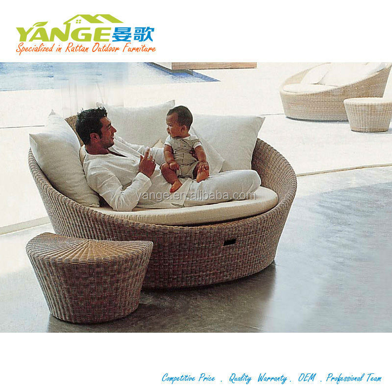 Round Bed For Sale Daybed Luxury Chaise Lounge Rattan