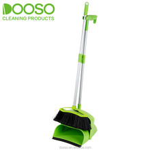 Wind Proof Dustpan And Broom Set With Aluminum Long Handle