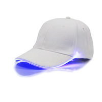 Factory Outlet Direct sales LED light baseball caps plain sports cap fiber fashion cool Outdoor sports hats Sunshade cap