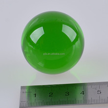 40mm Clear Green Color Crystal Glass Ball For Decoration