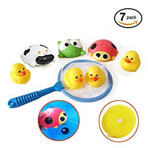 Bath Toys, OBOSOE3.5-Inch Squirter Squeaker Rubber Animal Bath Toys Set Hot Tub Toys for Boys Girls --7 Pack