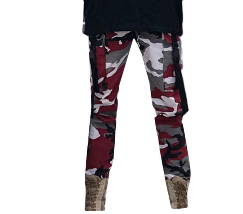 2dce42bdd19 Get Quotations · Tootless-Men Camo Casual Long Pants Drawstring Vogue Cargo  Pants Harem Pants