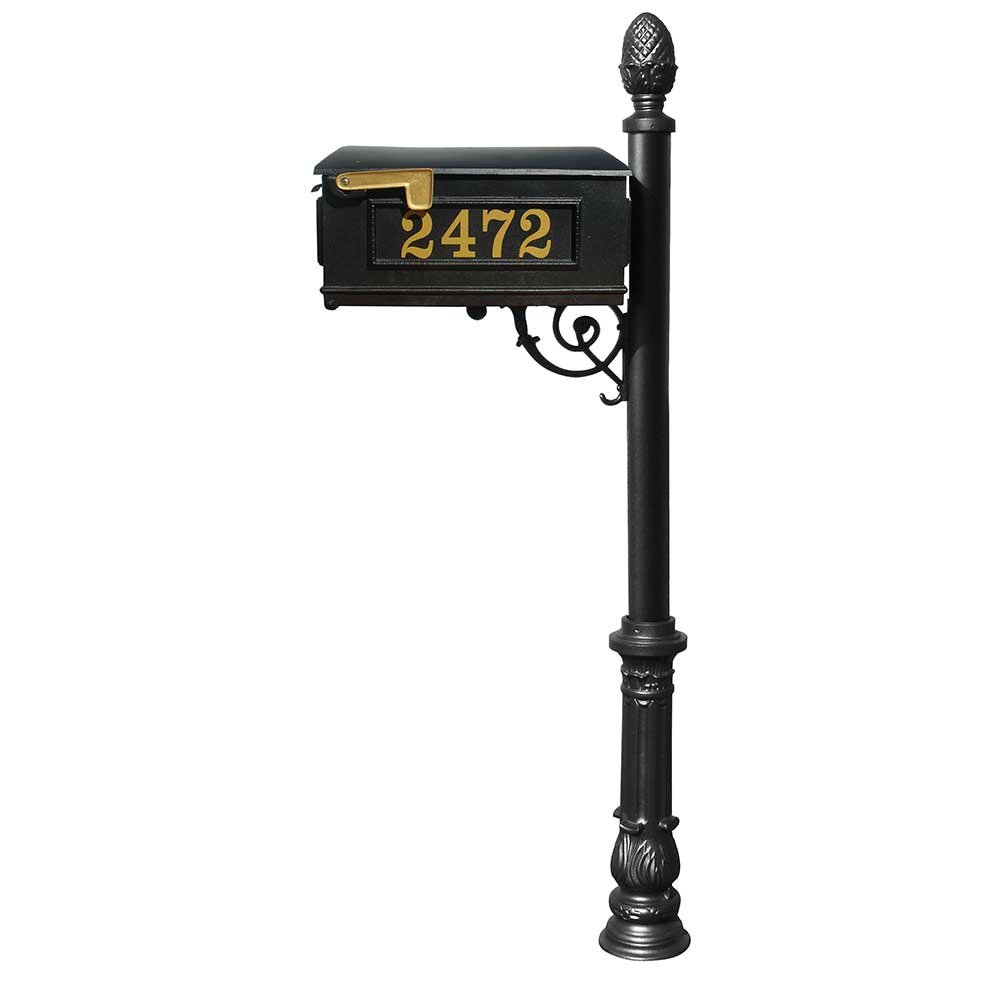 Buy Lewiston Mailbox With Ornate Base And Pineapple Finial