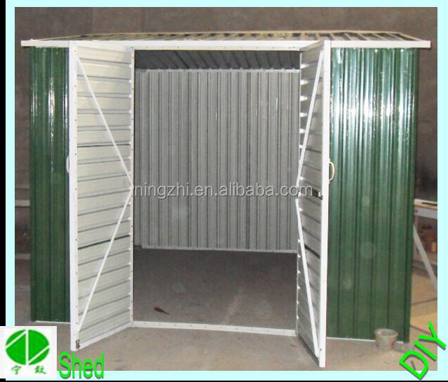 Diy portable acero cobertizo exterior caseta de jard n de for Caseta herramientas jardin