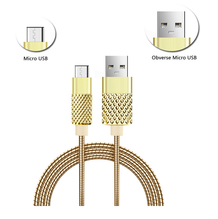 CE FC RoHs for apple iphone 6s metal usb cable for huawei p9