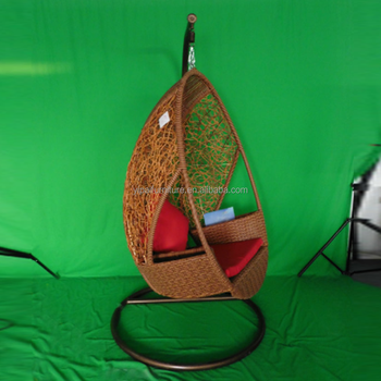 Outdoor Hanging Chair Cushion Cane Garden Swing Yps081