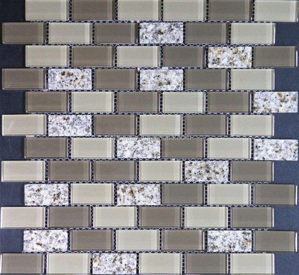 BS332 Tans/browns Glas Und Stein Mosaik Fliesen Für Wand Küche Bad Küche  Backsplash Dekoration