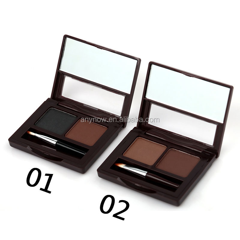 Amazon Hot Sell Menow 2 Colors Makeup Eye Brow Cake Palette With Brush