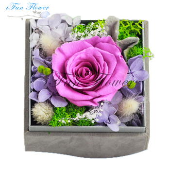Best Friend Birthday Gift Ideas Real Natural Flowers Boxes For Roses Packaging