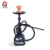 new design portable all glass clear hookah shisha with LED light