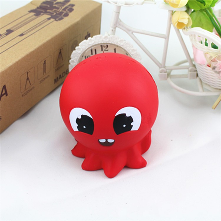 Red Octopus Reduce Pressure Cosy Squishy Slow Rising Toys