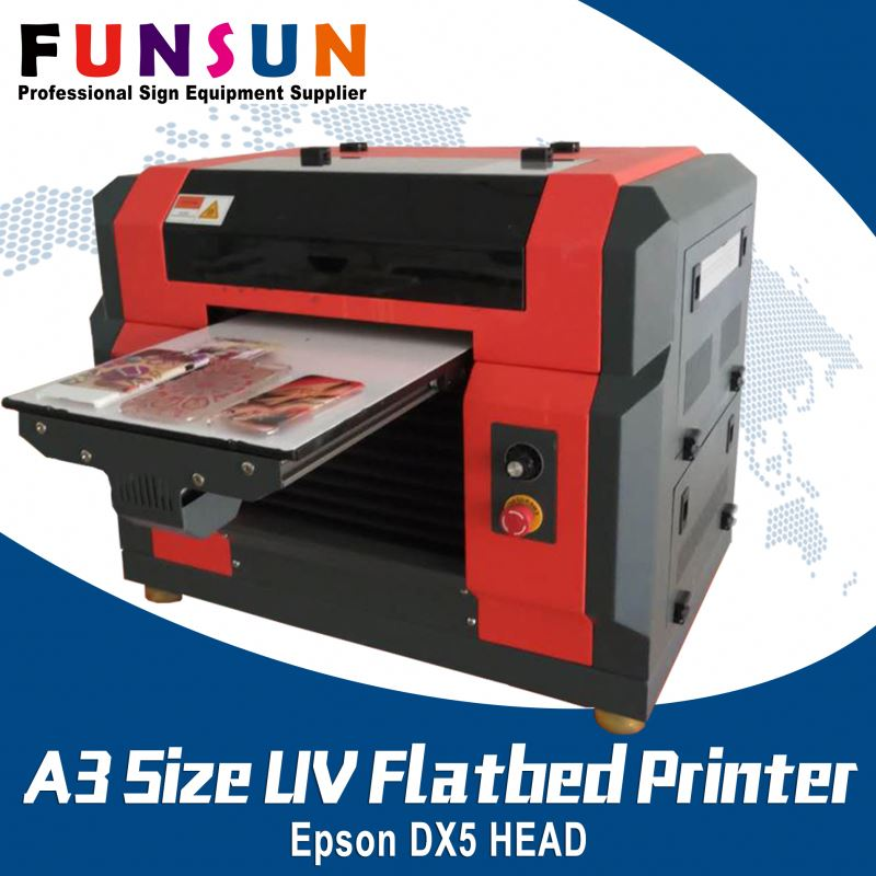 Funsunjet A3 Size DX5 Head paint machine five finger nails one time digital nail printer UV printer