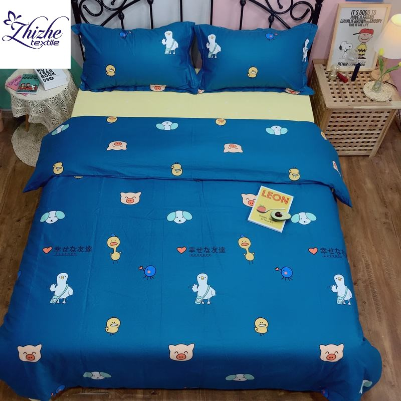 Indian style lucky family print kids children boys girls cotton bedding <strong>sets</strong>