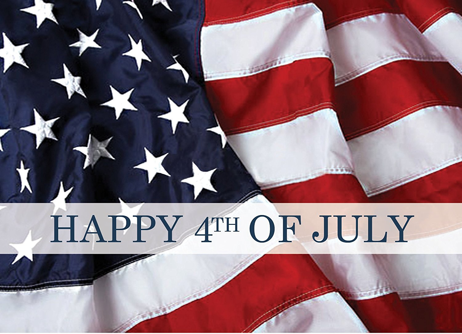 July 4th Greeting Cards - JF1504. Greeting Cards with an Image of the American Flag. Box Set has 25 Greeting Cards and 26 Red Colored Envelopes.