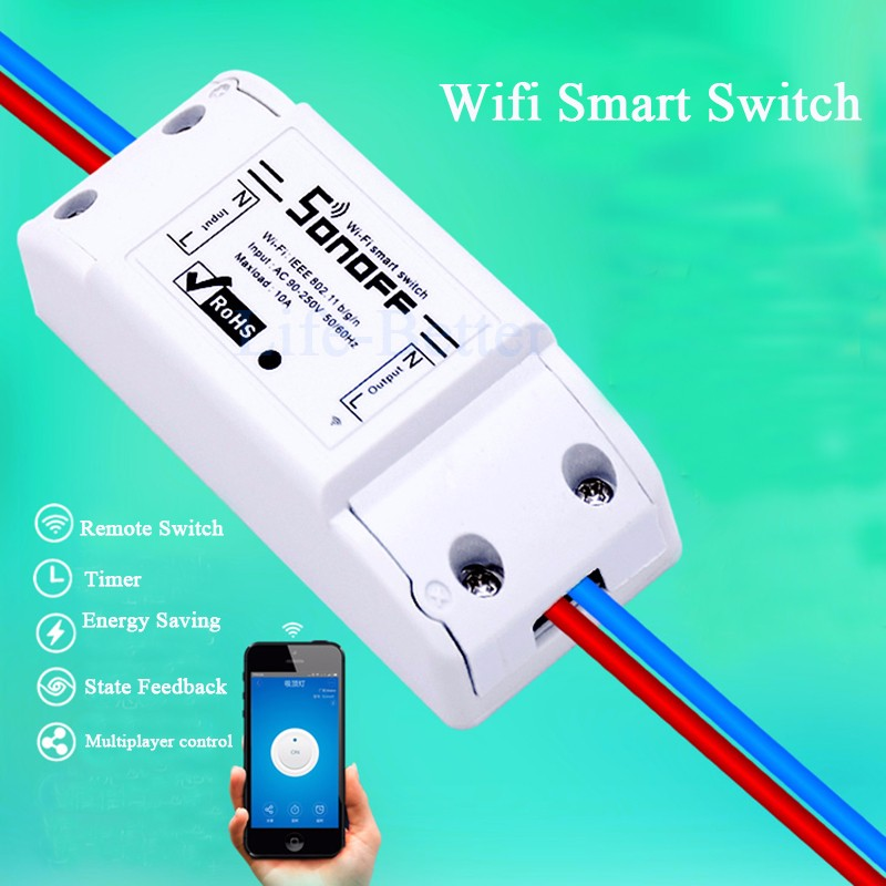 2019 Sonoff Wifi Switch Universal Smart Home Automation Module Timer Diy  Wireless Switch Remote Controller Via IOS Android 10A/2200W From Szyxbill,