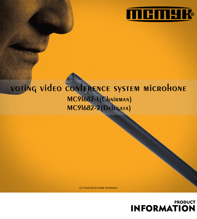 MC 91682 Wired Video Tracking Voting Conference System for Audience Response System Microphone
