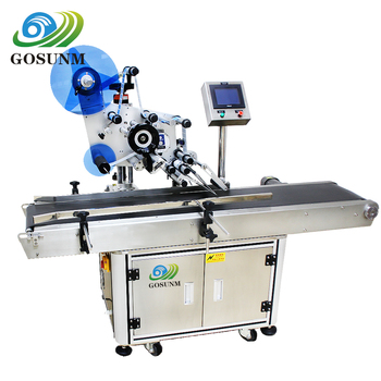 Gosunm Fruit dish auto top and bottom paste label labeling machine with Avery Labeling Engine
